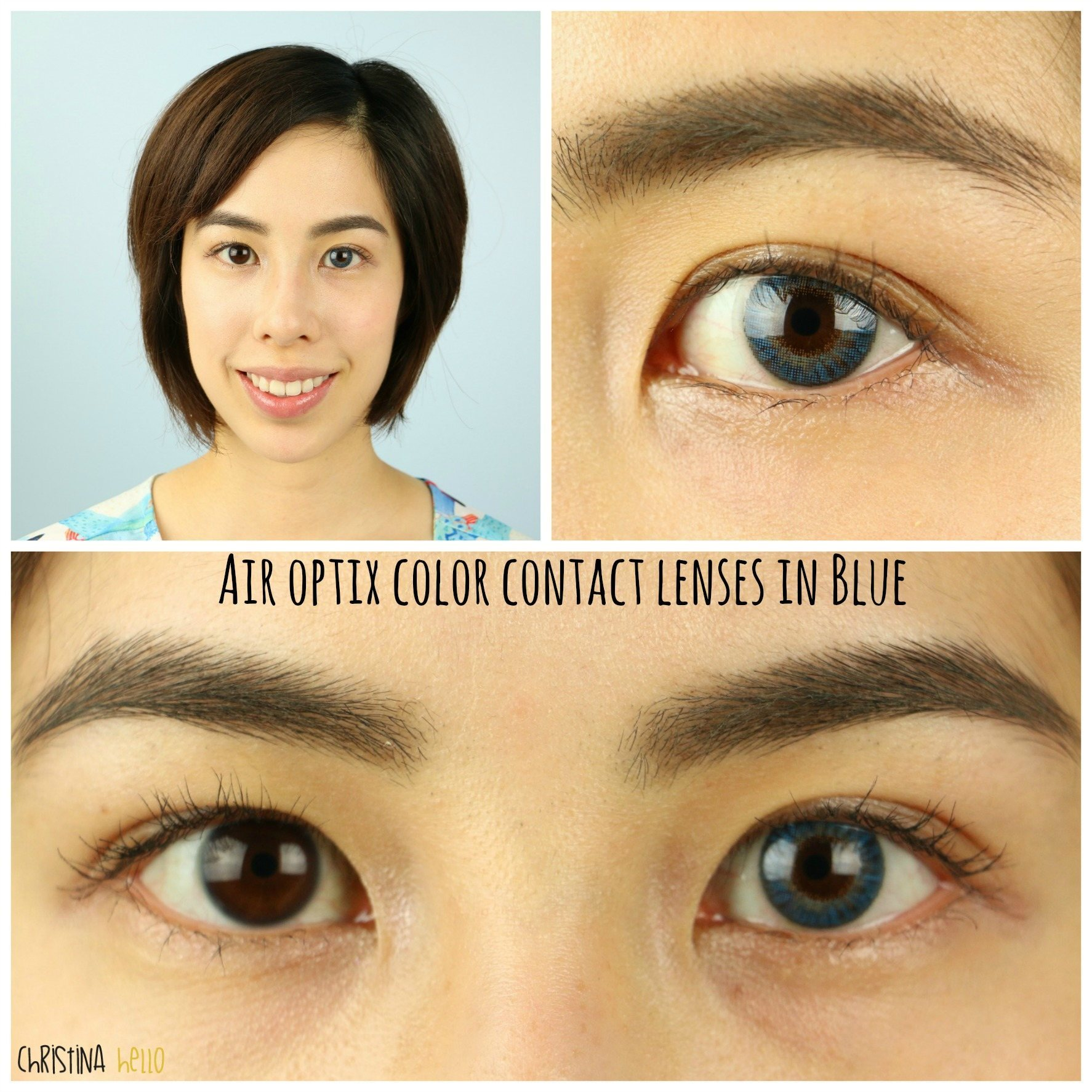 Green contacts asian her
