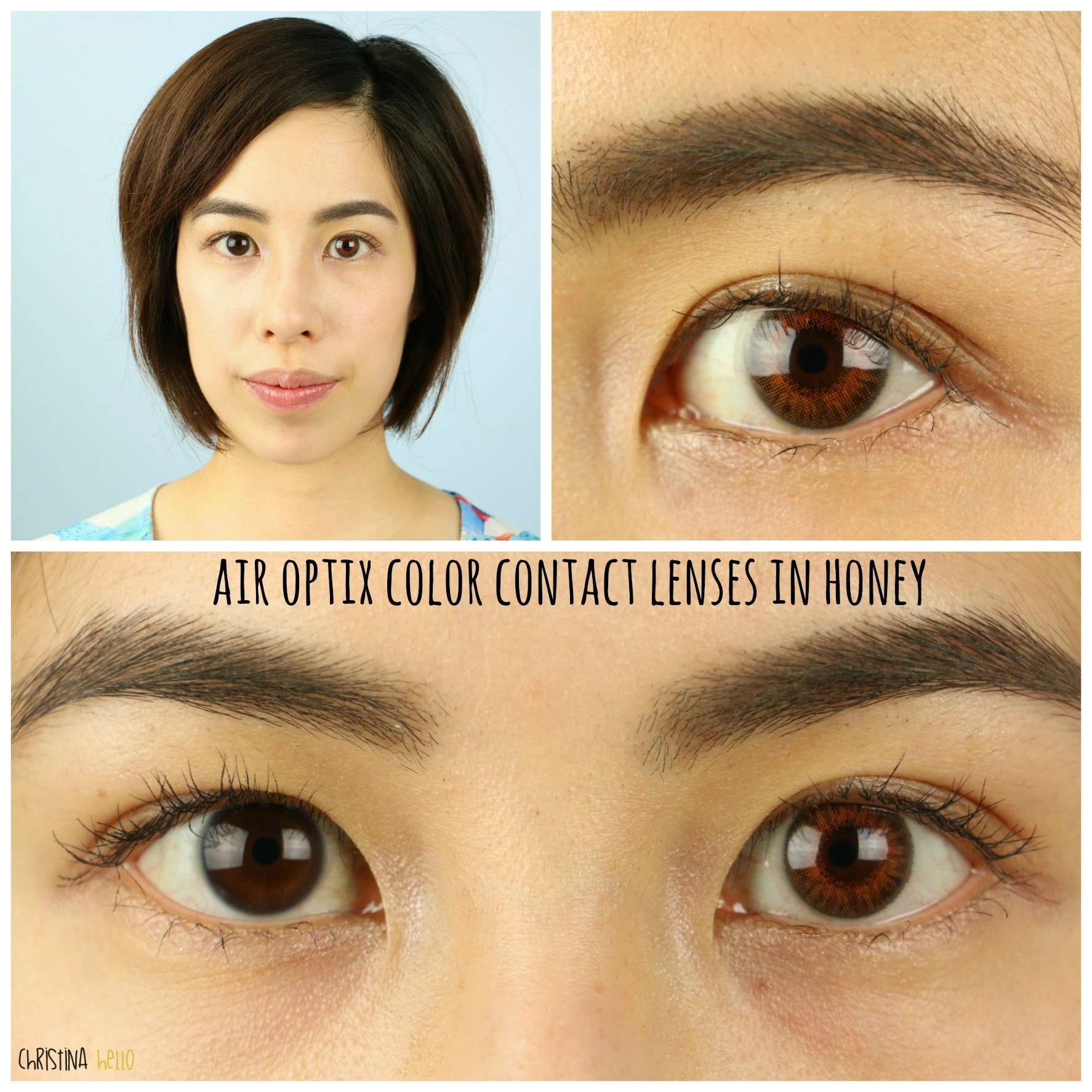 Honey Colored Contacts On Brown Eyes