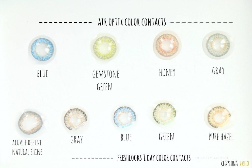 colored contacts Air optix Freshlook