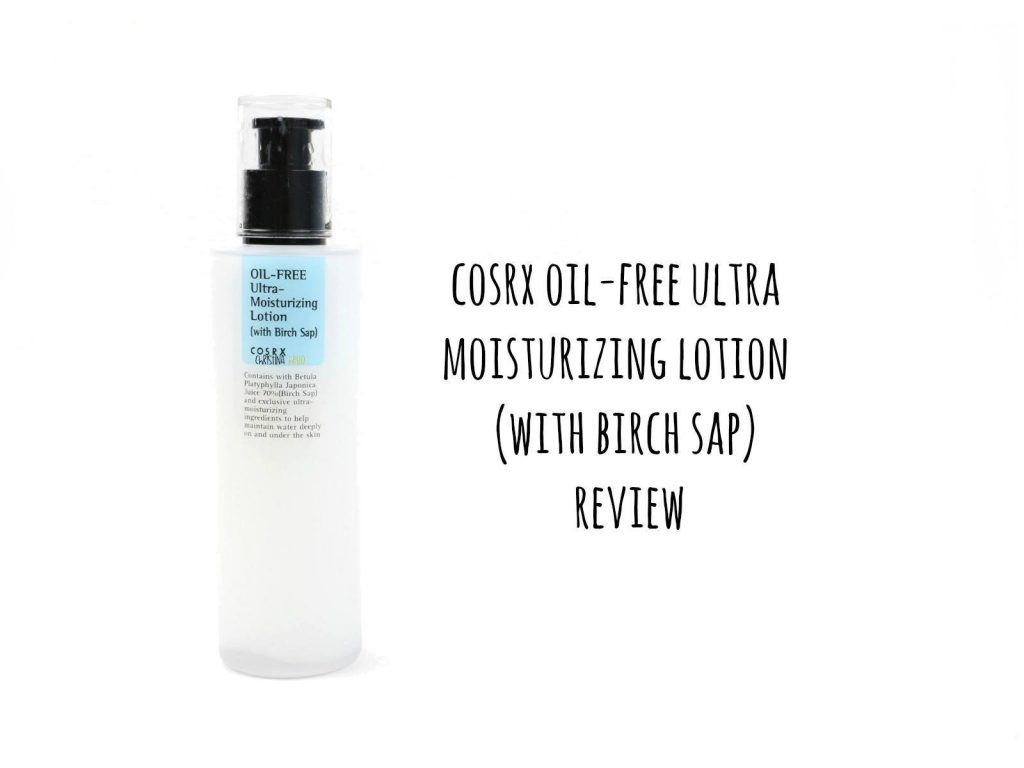 Korean moisturizer cosrx oil free ultra moisturizing lotion