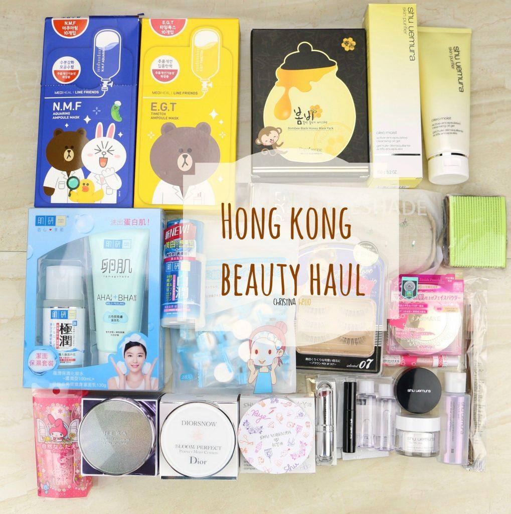 Hong Kong beauty haul