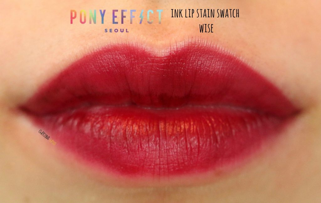 Pony effect ink lip stain swatch