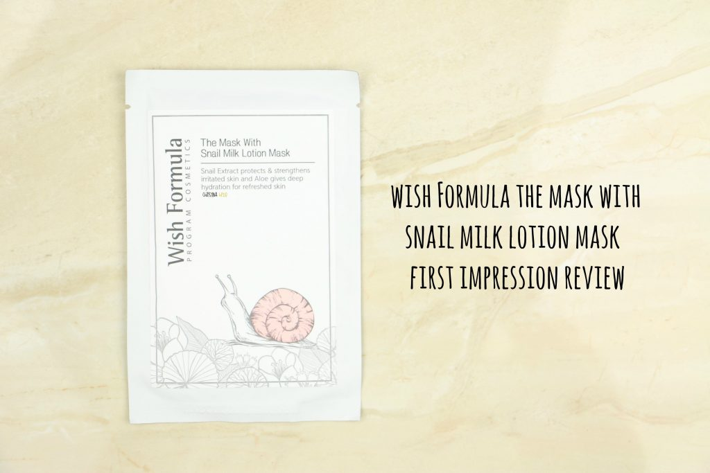 Wish Formula the mask with snail milk lotion mask