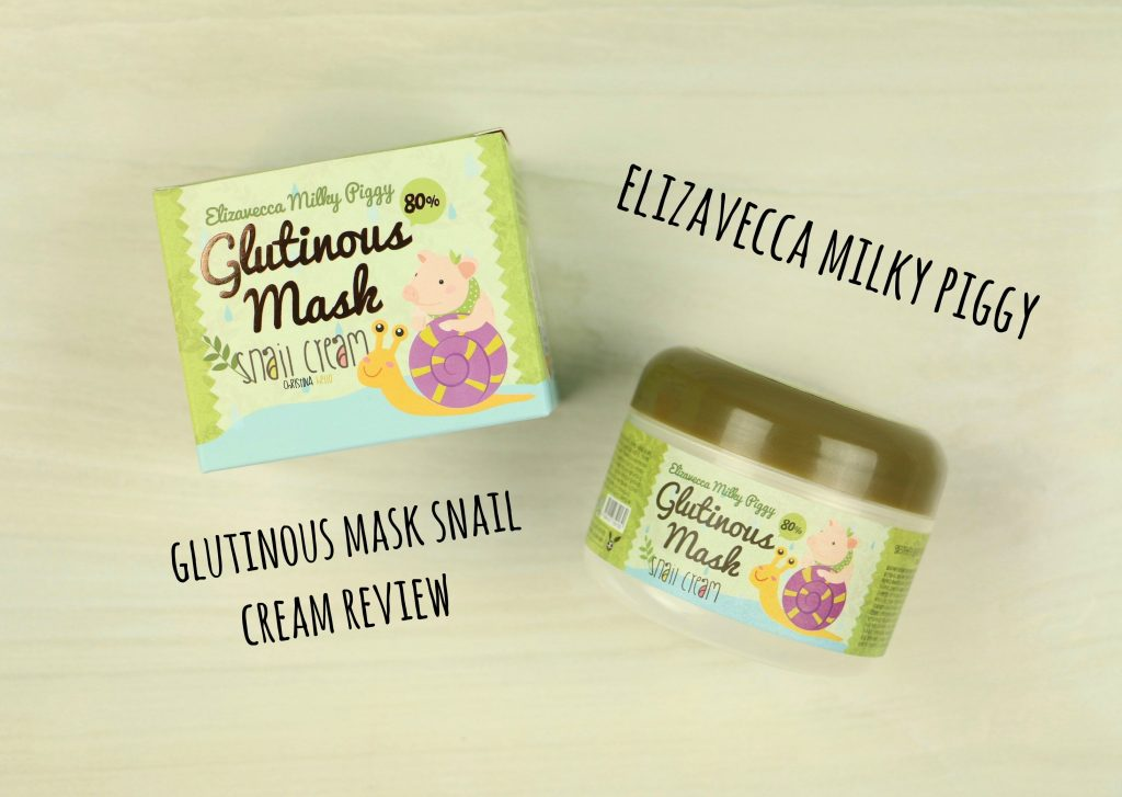 Elizavecca glutinous mask snail cream review