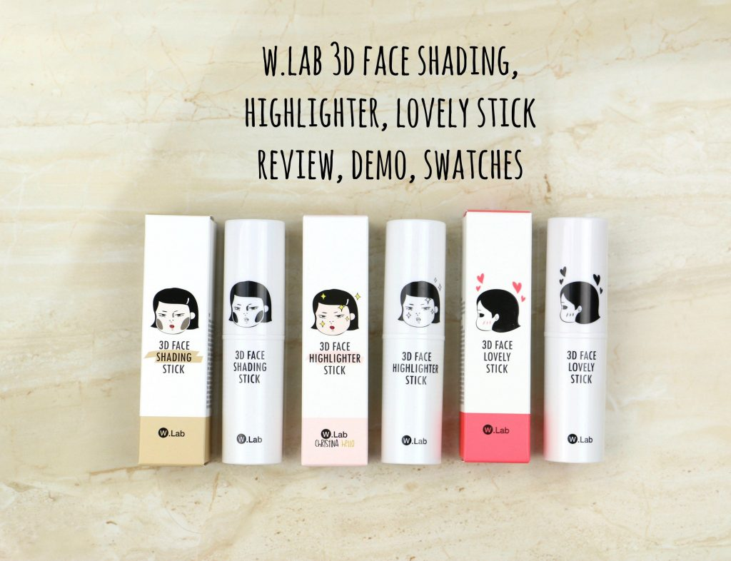 W.lab 3D face shading highlighter, lovely stick, review