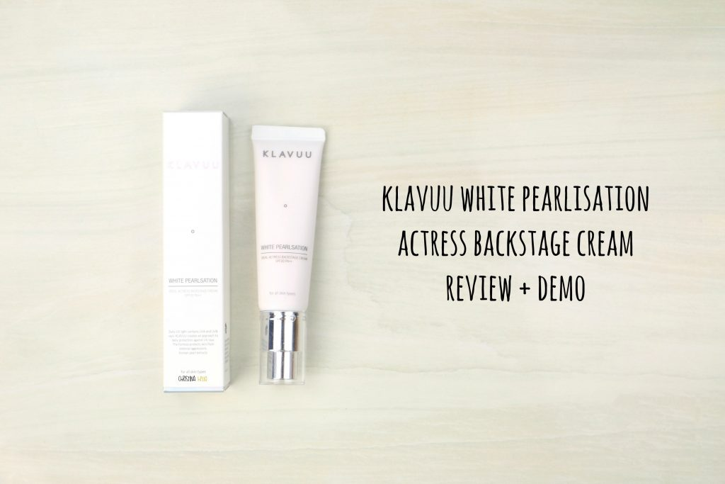Klavuu white pearlisation actress backstage cream