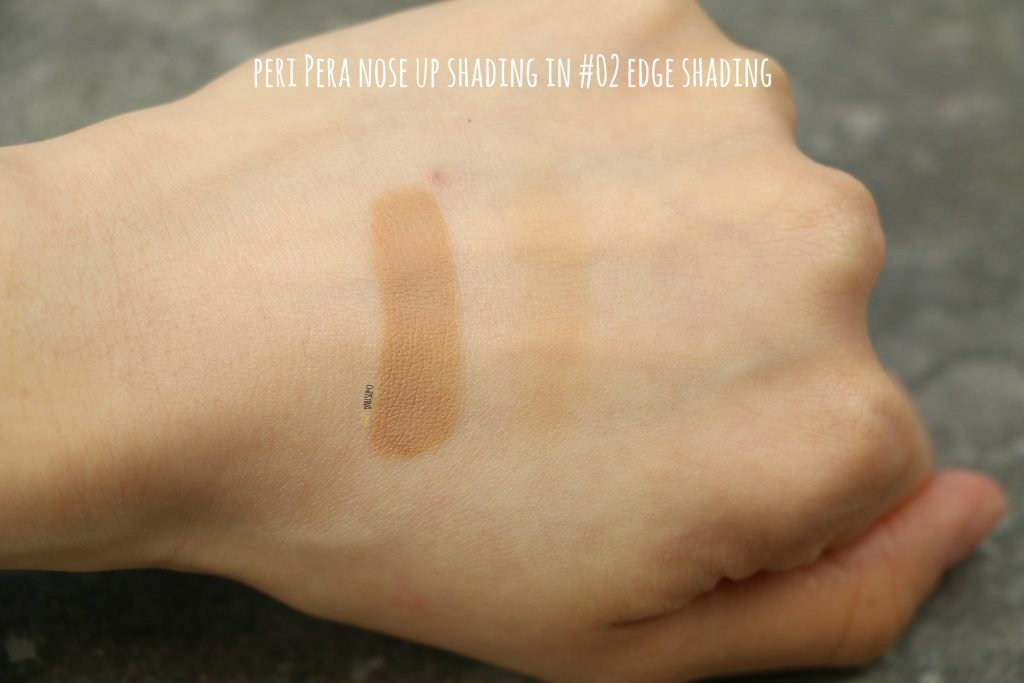 Peri Pera nose up shading review