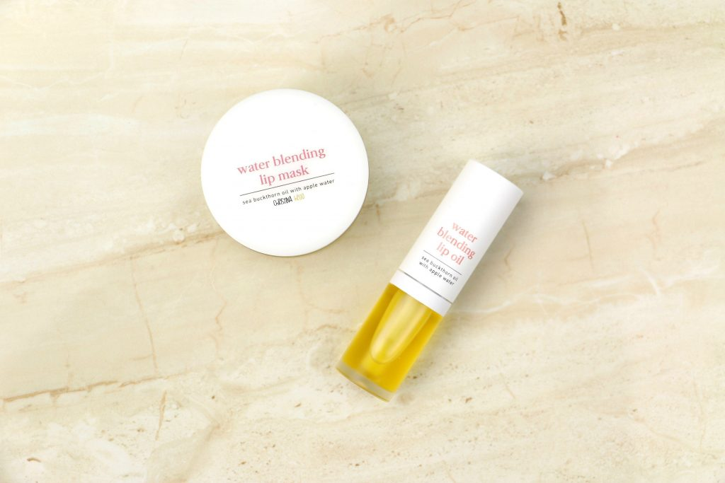 Noon water blending lip mask and oil