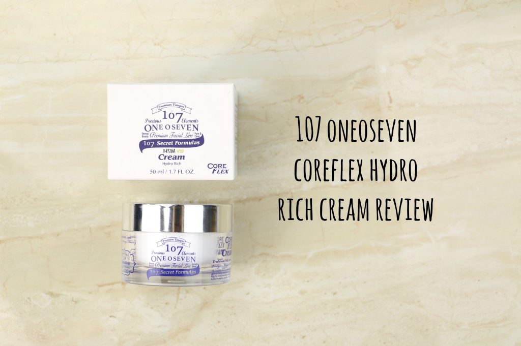 107 oneoseven core flex hydro rich cream review