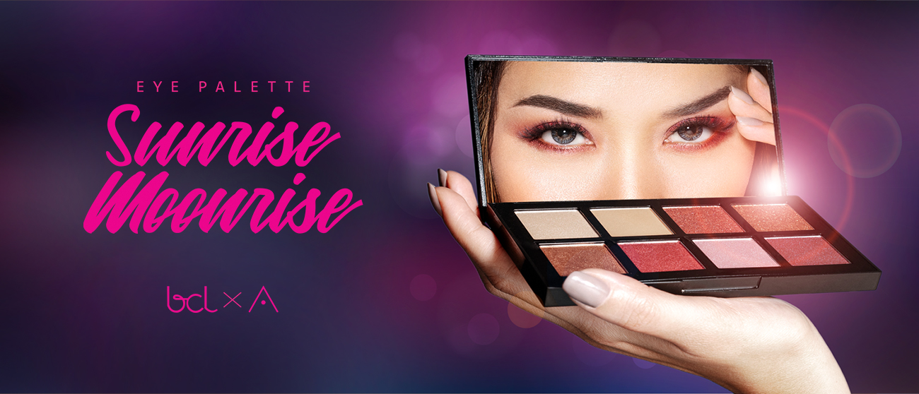 BCL x Althea eye palette sunrise + Moonrise Review & swatches
